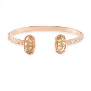 Kendra Scott Elton bracelet gold dusted glass RSG